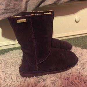 BearPaw Emma Short Snow Boot in Plum